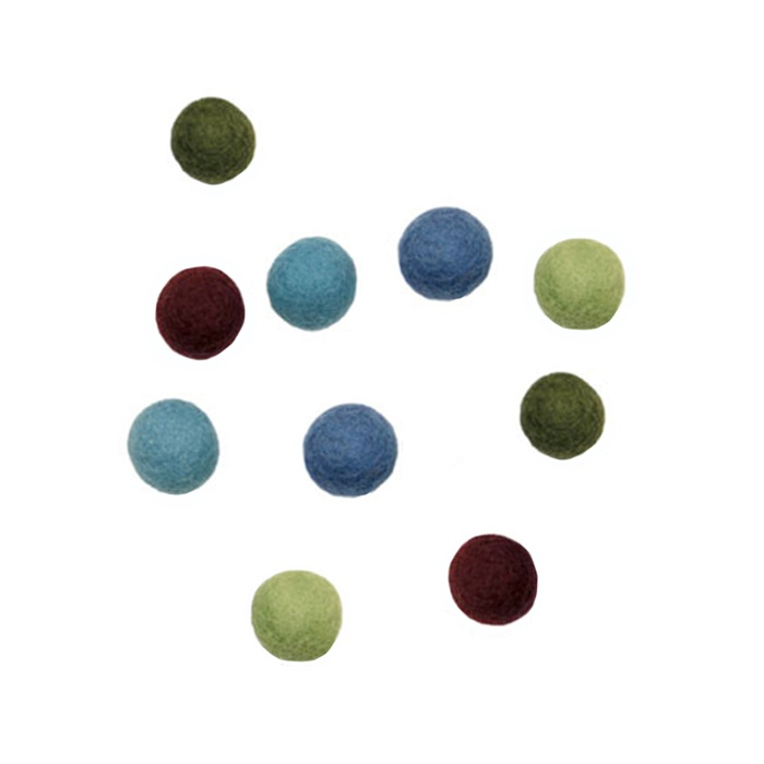 Felted ball-pack of 10