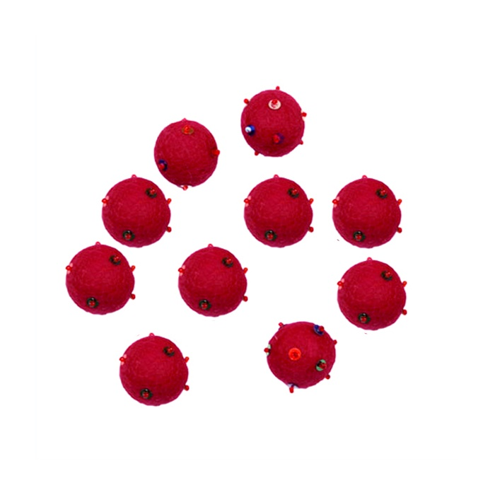 Felted ball bated-pack of 10