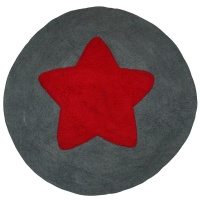 Round star carpet