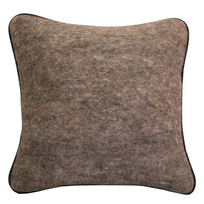 Natural felt cushion