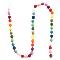 Felt ball garland - Multi
