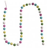 Felt ball garland - Easter
