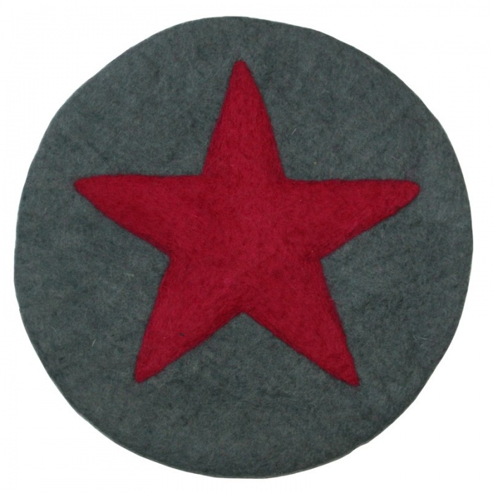 Star felt placemats/cushion
