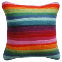Stripe felt cushion